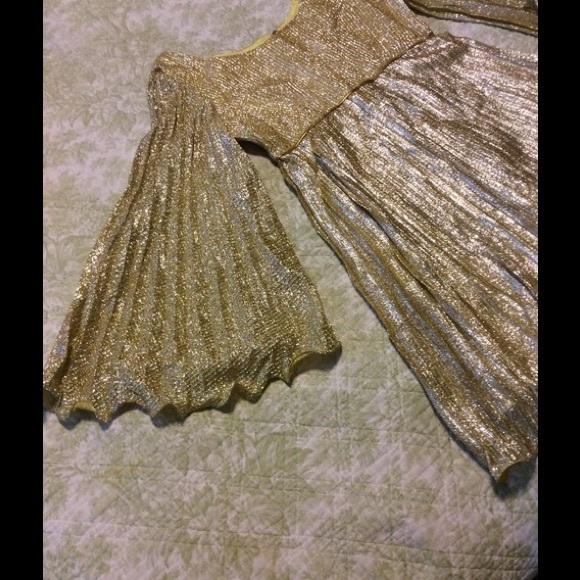Vintage Dresses - Vintage Gold Lame Dress