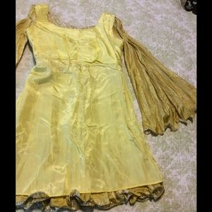 Vintage Dresses - Vintage Gold Lame Dress