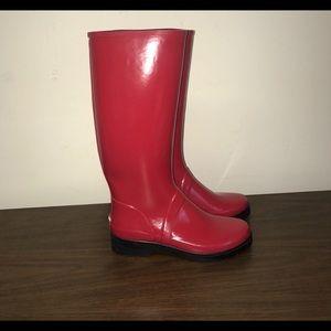 New Red Ralph Lauren Sport Rain boots size 10