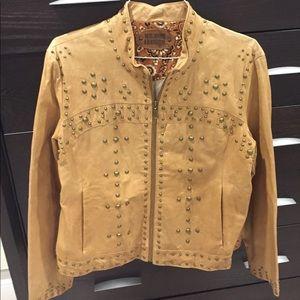 Jackets & Blazers - 100% Genuine leather Moto Jacket L/XL.  Studded.