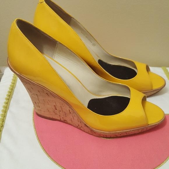 14b3569fa Aldo Shoes - Yellow Aldo Wedges - Size 9