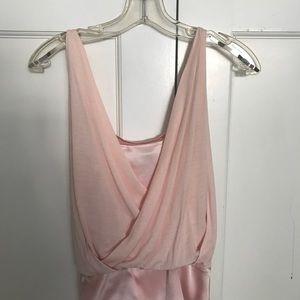 Diane Von Furstenberg silk pink top