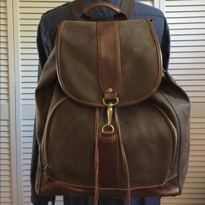 Large Chocolate Brown Leather Backpack