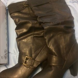New Rampage Dark Brown Eldi Boots Size 8