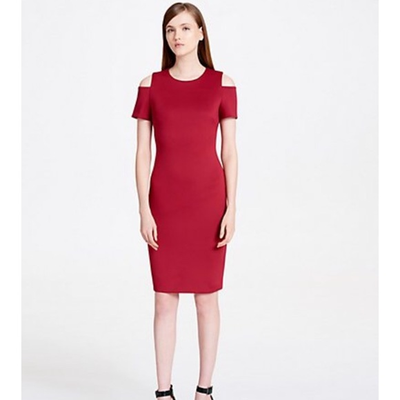 1a1303b6ebf62 Calvin Klein Dresses   Skirts - Calvin Klein cold shoulder scuba sheath  dress