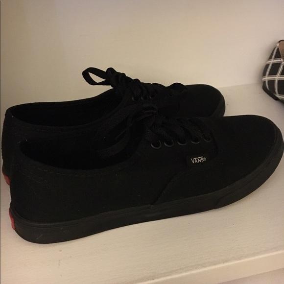 pure black vans shoes
