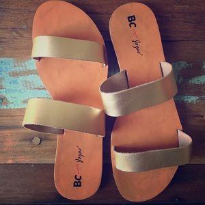 BC for Joyous Minimalist gold sandals