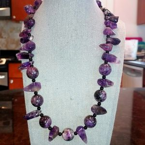 Jewelry - Yameen Light Chaorite, Amethyst, and Onyx necklace