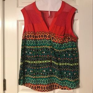 Plenty by Tracy Reese colorful top L