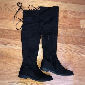 ASOS over the knee black boot. Gently used