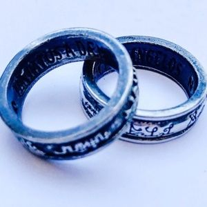 Double-stack Pewter Angel Rings by Alchemy 7/7.5