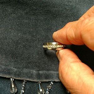 Jewelry - Rhinestone and silver ring
