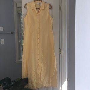 Women's Emma James Yellow Sleeveless Dress