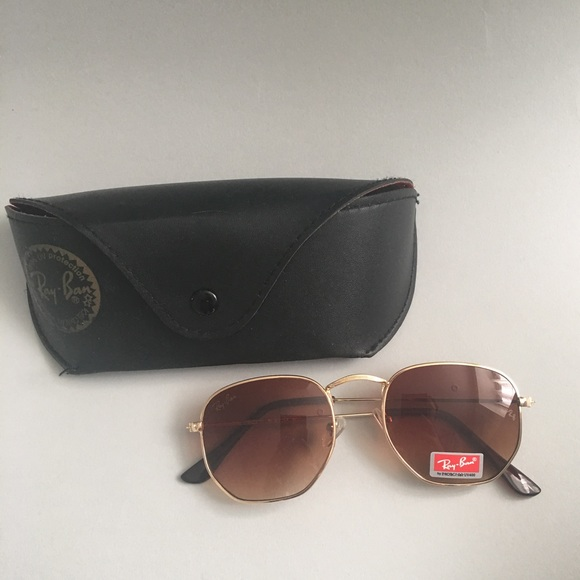 c2fc8fe07c1 Ray-Ban Hexagonal Flat Lens Sunglasses. M 59d3d7c09818292d8a04993c. Other  Accessories ...
