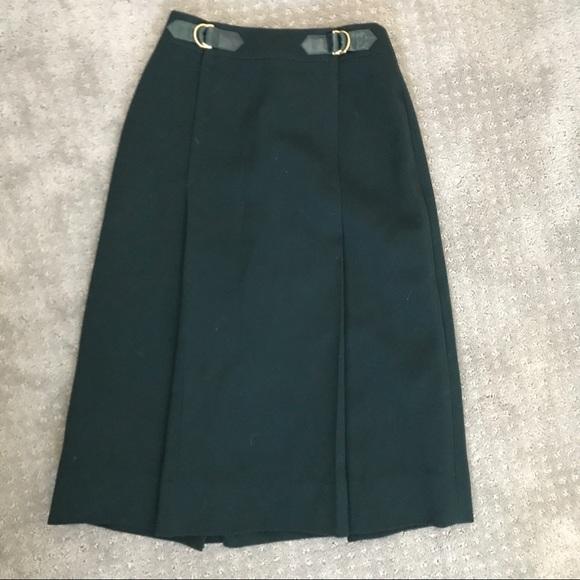 Deep Green Authentic Vintage Celine Paris Skirt
