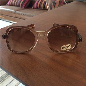 Vintage folding sunglasses