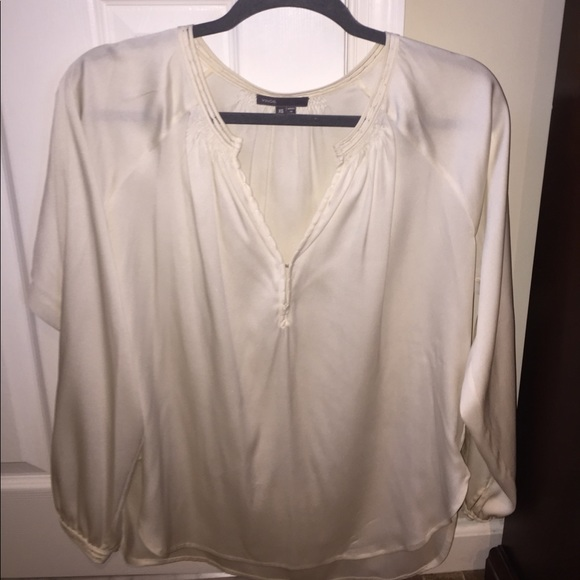 096f5835397fdd Vince Tops | Xs Womens Ivory Long Sleeve Silk Blouse | Poshmark