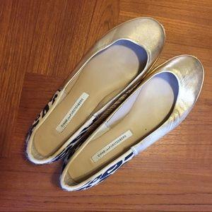 Golden Diane von Furstenberg Shoes Size 9 1/2