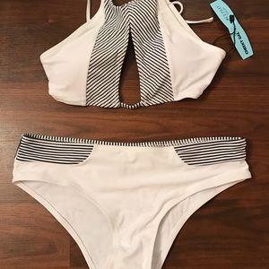 New White Halter Bikini