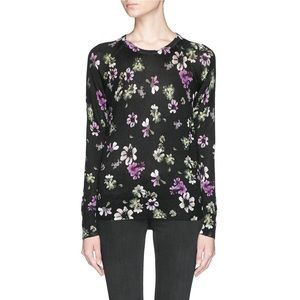 NWT equipment Sloane crew neck sweater floral