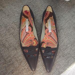 Sigerson Morrison 1 inch heel point toe shoe