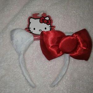 Hello Kitty Girls headband Ears w Bow