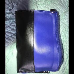 Black and blue clutch