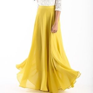 Lucy Paris Amelia Yellow Maxi Skirt