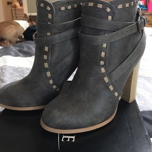 Cute gray boots