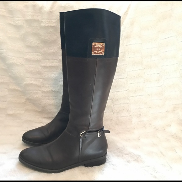 2c451c25b74c Tommy Hilfiger brown and black riding boots. M 59d13a7b6a5830a9670a2e37