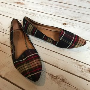 Joie plaid day dreaming flats! Good condition!