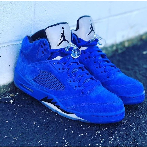quality design 0eea8 b28d9 Nike Air Jordan Retro 5🔥 Blue suede🔵