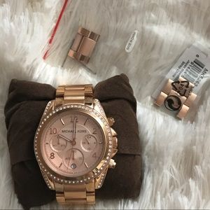 Rose Gold Michael Kors 'Blaire' watch