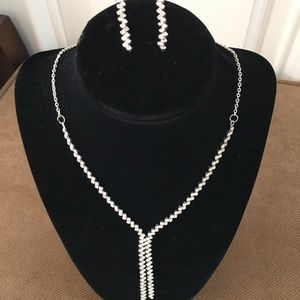 Jewelry - Artificial Diamond Necklace And Earring Set