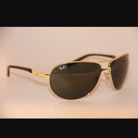 04ce979506 Ray-ban 3393 aviator wrap sunglasses. Gold green. M 59d13f854225bed6fc0a4d60