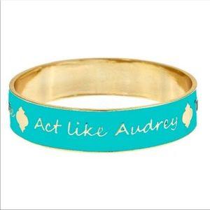 Jewelry - Blue Audrey, Gatsby, Jackie Quote Bangle