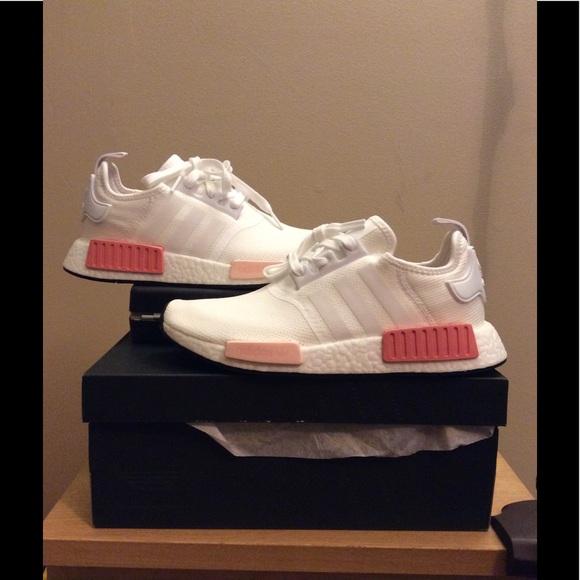 le adidas nmd r1 bianco e rosa poshmark icey