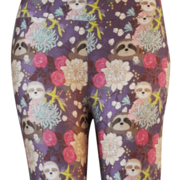e7f601d65de134 Charlie's Project (not Lularoe) Pants | Floral Tree Sloths Leggings ...
