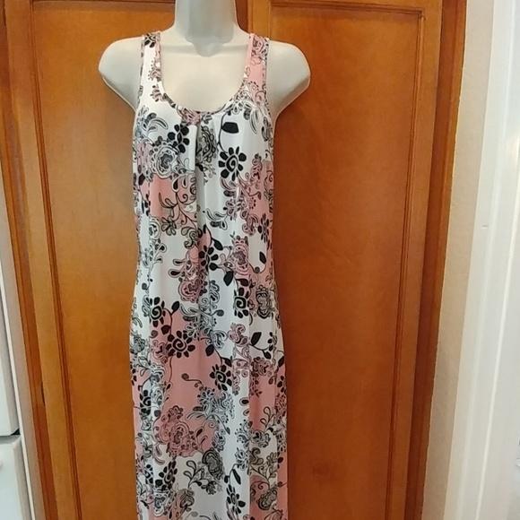 Linea Donatella Dresses & Skirts - Pink and black maxi dress
