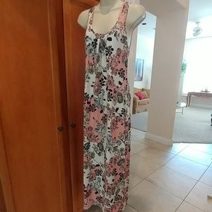Linea Donatella Dresses - Pink and black maxi dress