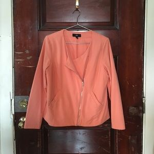 Salmon Cotton Blazer