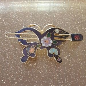 Beautiful vintage butterfly hair clip! So pretty!