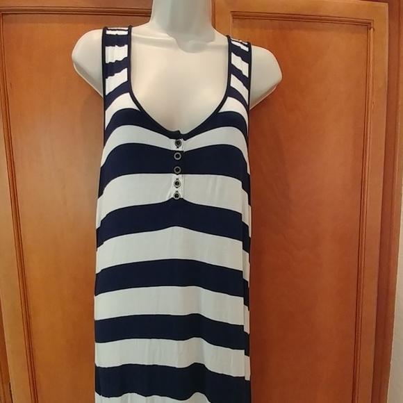 Delletta Dresses & Skirts - Blue and cream strip maxi dress