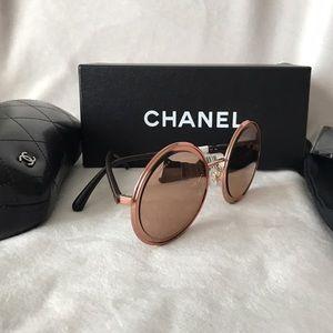e7dd72cac7 CHANEL Accessories - New 2017 Chanel 18k Rose Gold Round Sunglasses