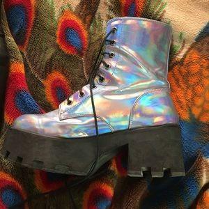Hologram boots