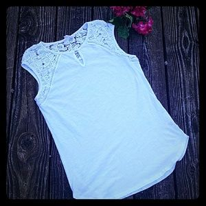 White Sleeveless Top from Adiva