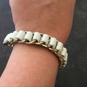 Jewelry - Leather chain braided woven bracelet chunky