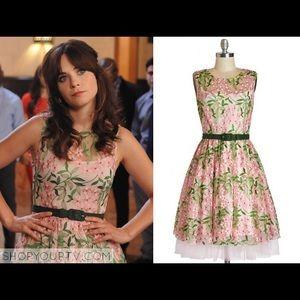 Eva Franco Renee Pink Green Dress