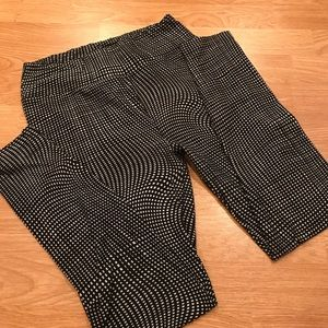 LuLaRoe OS black and white leggings