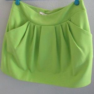 Diane von Furstenberg Lime Mini Skirt